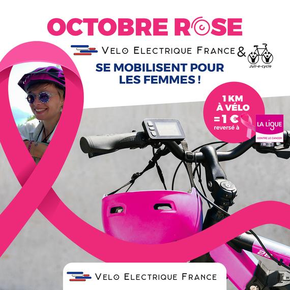 VÉLO ÉLECTRIQUE FRANCE & Juli_e_cycle SE MOBILISENT POUR OCTOBRE ROSE