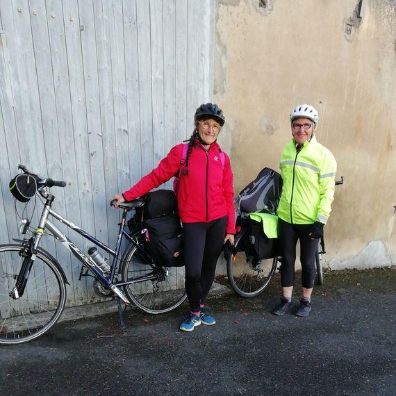 escapade à vélo  Mariette et Isabelle