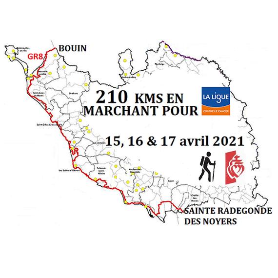 210 kms en marchant pour la ligue contre le cancer