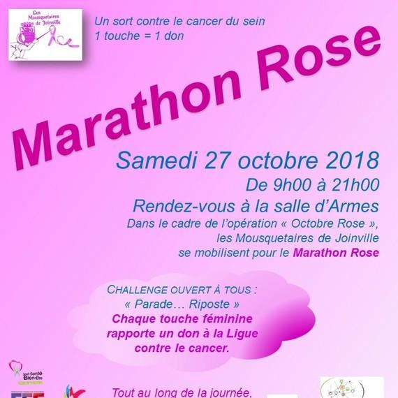 Les Mousquetaires font leur Marathon Rose
