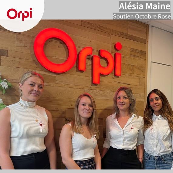 """Orpi Alésia Maine relève le défi """"Octobre Rose"""""""